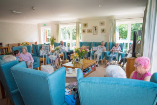 Hollybank residents in lounge